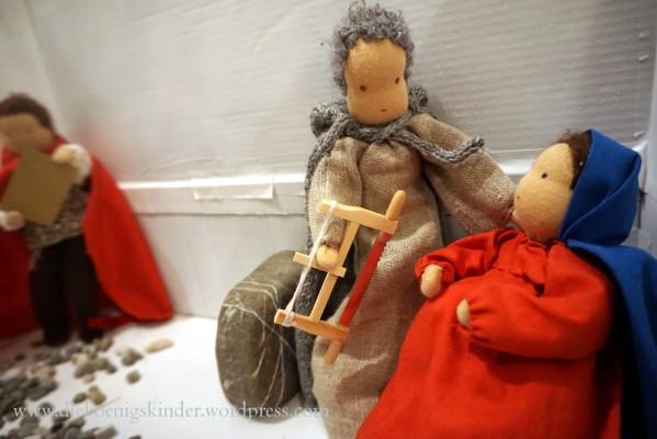 Maria und Joseph hören vom Befehl des Kaisers Augustus